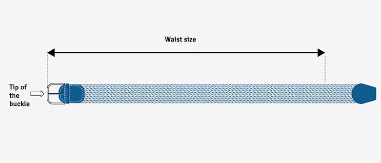elastic belts sizes