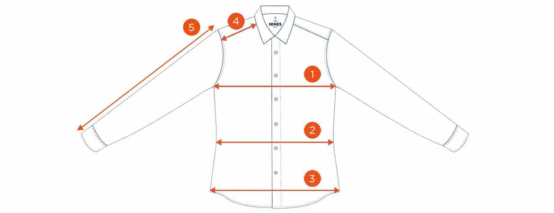 comment prendre les mesures sur chemise à plat