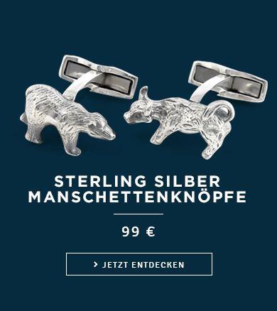 Sterling Silber Manschettenknopfe