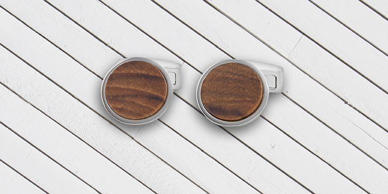 Holz Manschettenknöpfe