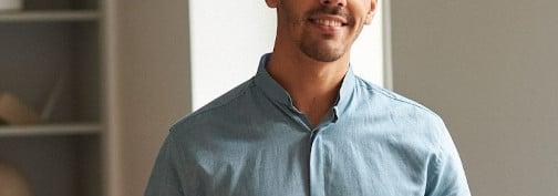 chemise col inversé