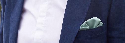 pochette costume vert sauge