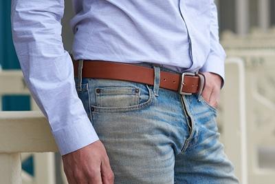 ceinture cuir marron steve
