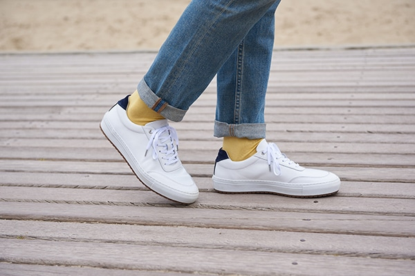 chaussette coton doux jaune