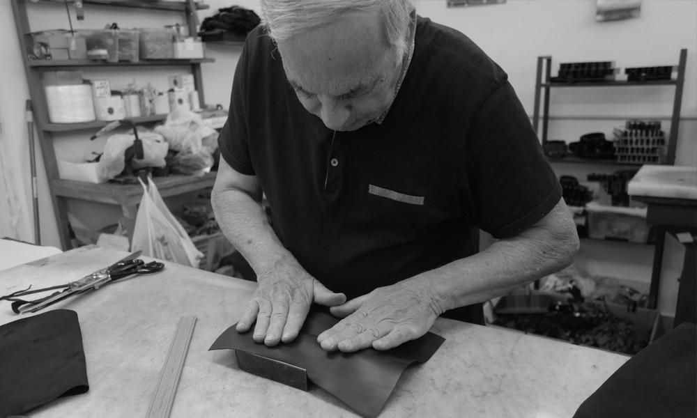 Formes gants en cuir